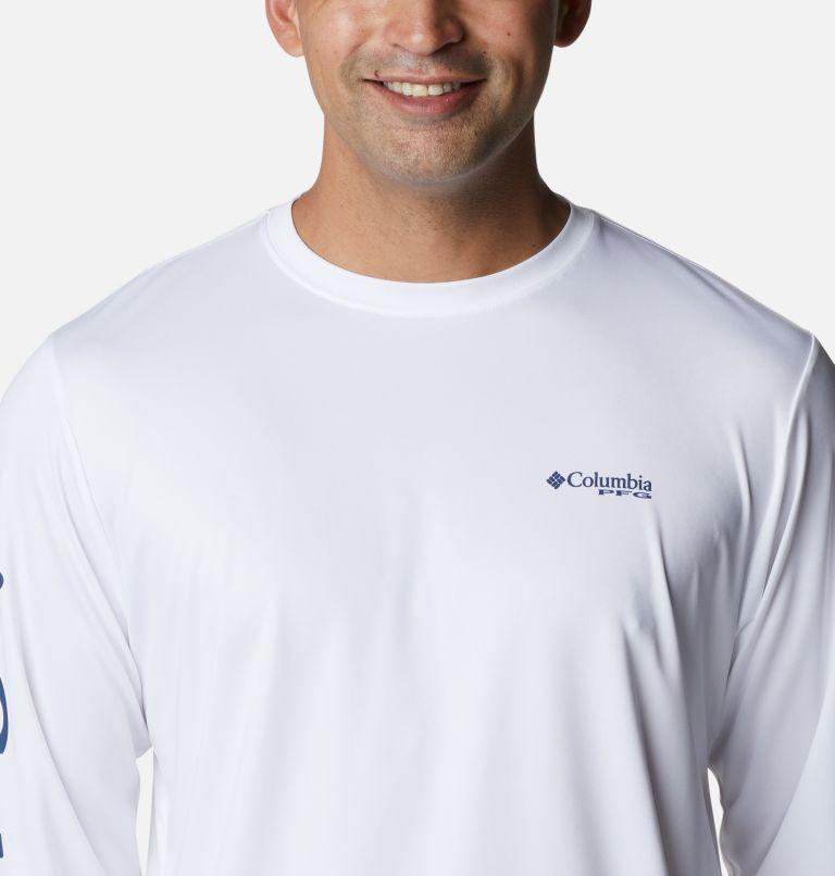 Terminal Tackle PFG™ Carey Chen LS   103   S Men's PFG Terminal Tackle™ Carey Chen Long Sleeve Shirt, White, Dorado, a2