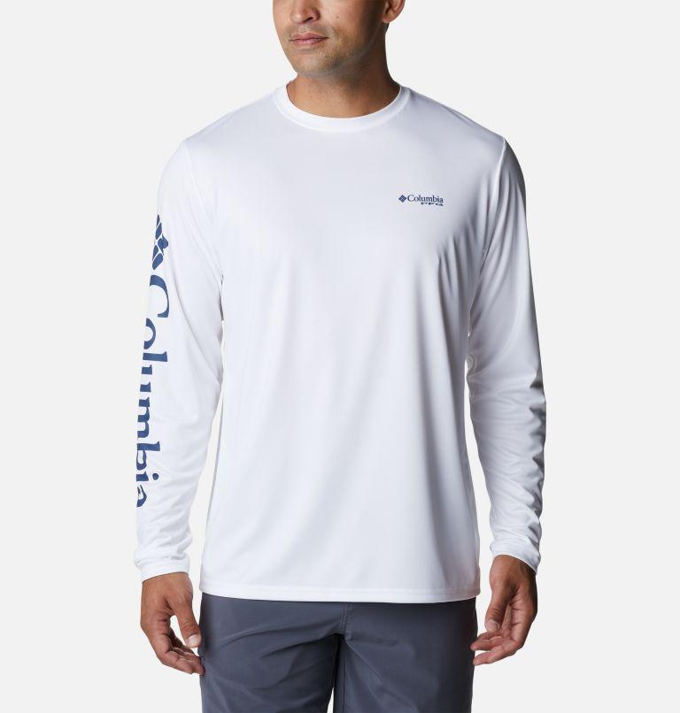 Terminal Tackle PFG™ Carey Chen LS   103   S Men's PFG Terminal Tackle™ Carey Chen Long Sleeve Shirt, White, Dorado, back