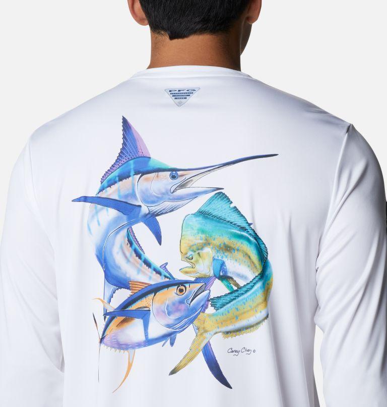 Terminal Tackle PFG™ Carey Chen LS | 105 | L Men's PFG Terminal Tackle™ Carey Chen Long Sleeve Shirt, White, Offshore Slam, a3