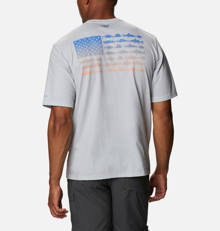 Men's PFG™ Fish Flag Graphic Short Sleeve Shirt Men's PFG™ Fish Flag Graphic Short Sleeve Shirt, front