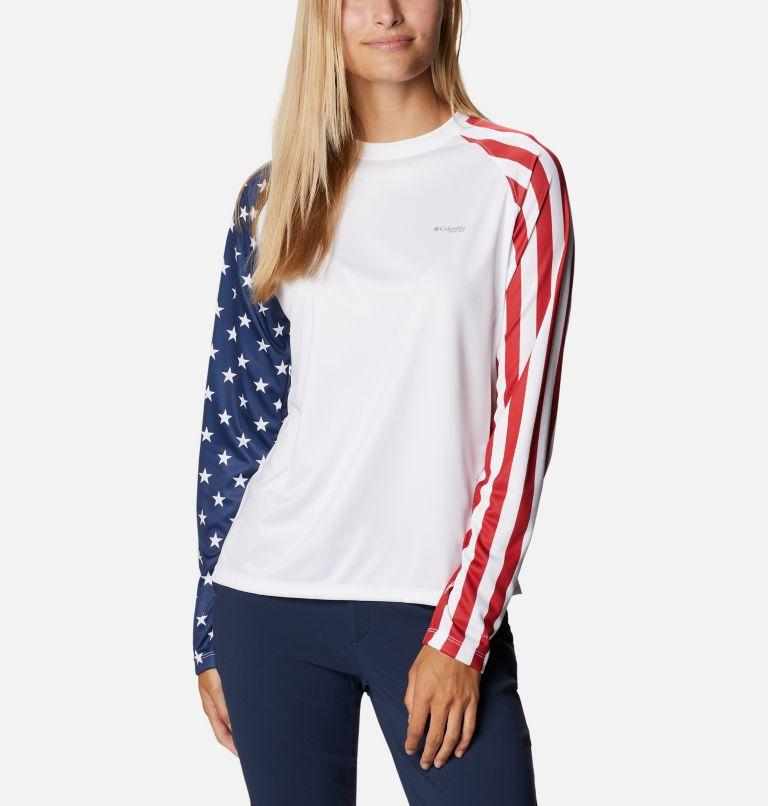 Women's PFG Tidal™ Americana Long Sleeve T-Shirt Women's PFG Tidal™ Americana Long Sleeve T-Shirt, front