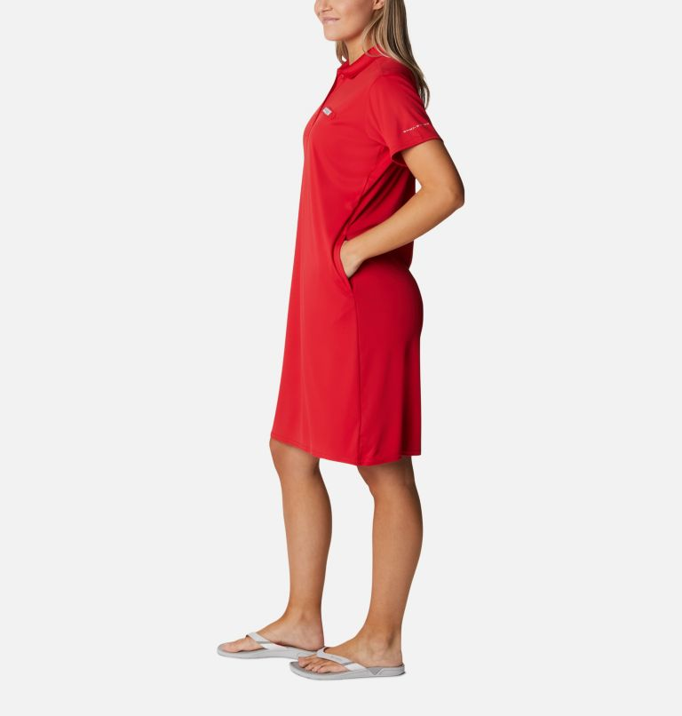 Tidal Tee™ Polo Dress | 696 | XXL Women's Tidal Tee™ Polo Dress, Red Spark, a1