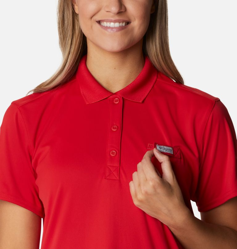Tidal Tee™ Polo Dress | 696 | XXL Women's Tidal Tee™ Polo Dress, Red Spark, a2