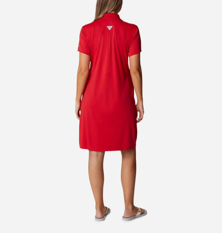 Tidal Tee™ Polo Dress | 696 | XXL Women's Tidal Tee™ Polo Dress, Red Spark, back