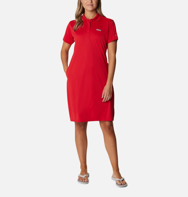 Tidal Tee™ Polo Dress | 696 | XXL Women's Tidal Tee™ Polo Dress, Red Spark, front