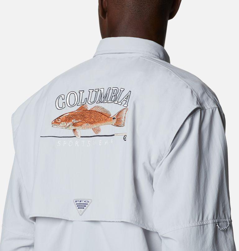Bahama™ ICON LS Shirt | 019 | L Men's Bahama™ Icon Long Sleeve Shirt, Cool Grey, Redfish Graphic, a3