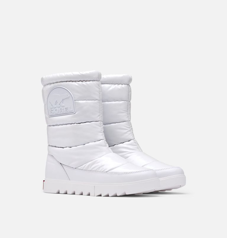 JOAN OF ARCTIC™ NEXT LITE MID PUFFY | 100 | 9.5 Women's Joan Of Arctic™ NEXT LITE Mid Puffy Boot, White, 3/4 front
