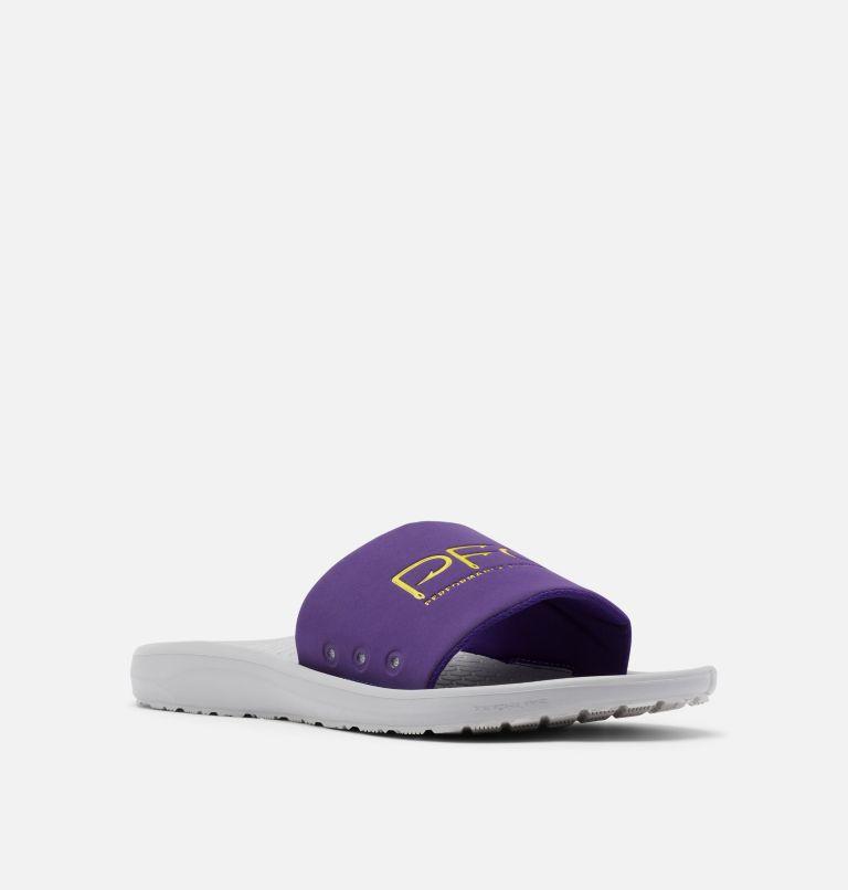 YACHTROCKER™ PFG SLIDE | 540 | 10 Men's Yachtrocker™ PFG Slide Sandal, Hyper Purple, Deep Yellow, 3/4 front