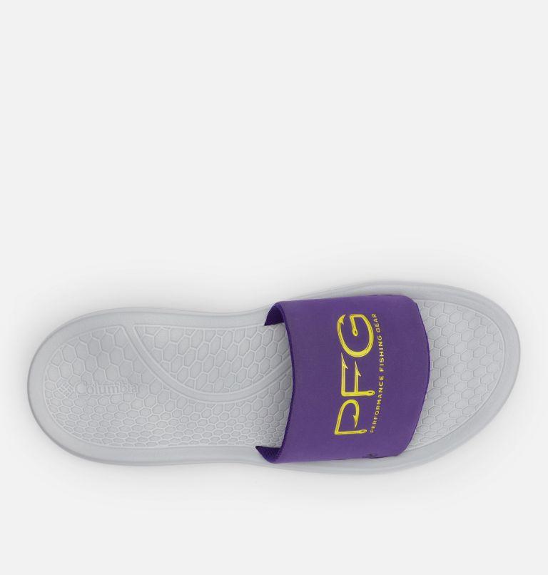 YACHTROCKER™ PFG SLIDE | 540 | 10 Men's Yachtrocker™ PFG Slide Sandal, Hyper Purple, Deep Yellow, top