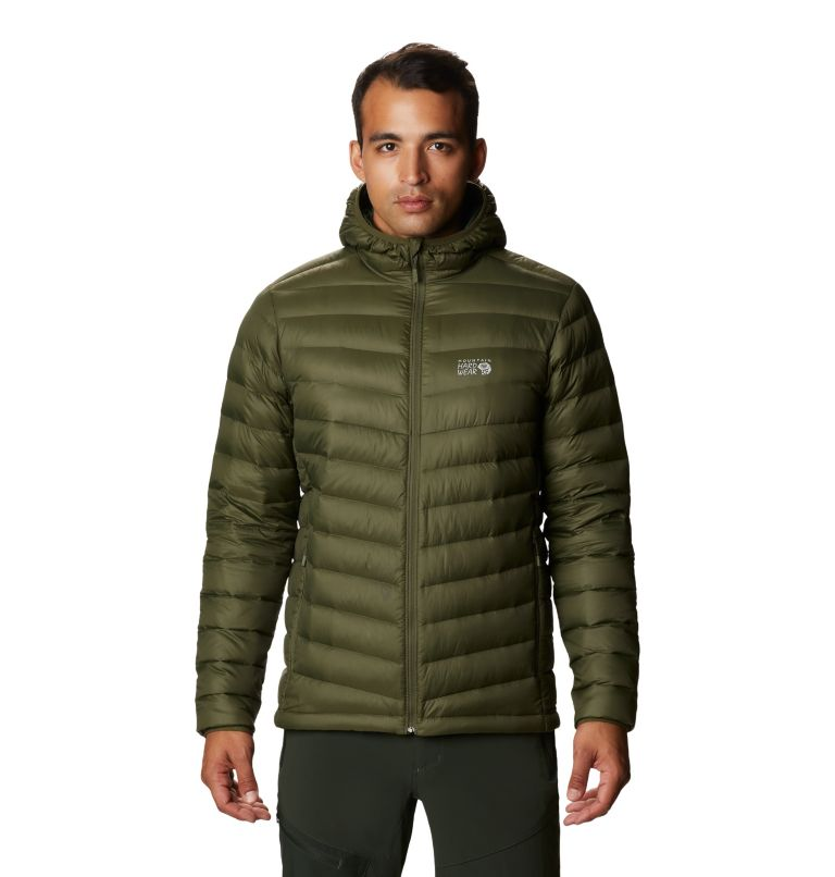 Glen Alpine Down Hoody | 304 | L Men's Glen Alpine Down Hoody, Dark Army, front