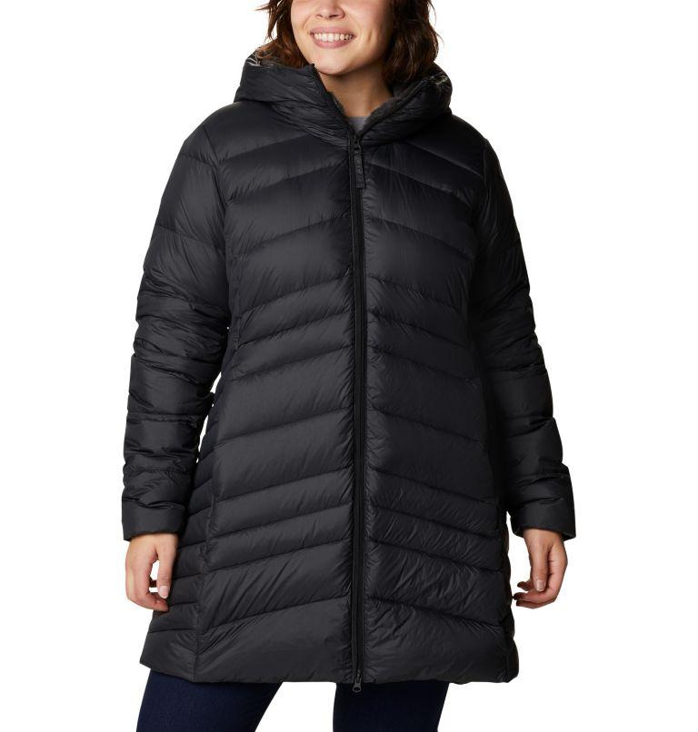 Women's Autumn Park™ Down Hooded Mid Jacket - Plus Size Women's Autumn Park™ Down Hooded Mid Jacket - Plus Size, front