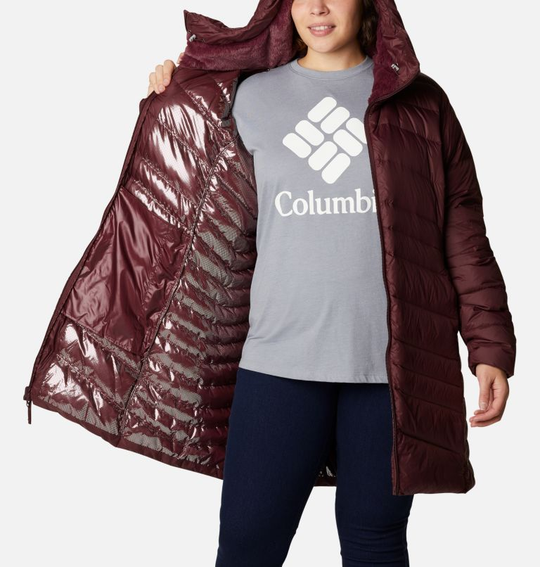 Women's Autumn Park™ Down Hooded Mid Jacket - Plus Size Women's Autumn Park™ Down Hooded Mid Jacket - Plus Size, a3
