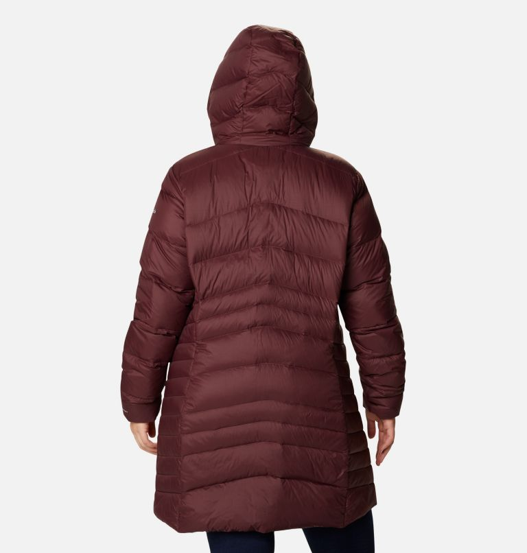 Women's Autumn Park™ Down Hooded Mid Jacket - Plus Size Women's Autumn Park™ Down Hooded Mid Jacket - Plus Size, back
