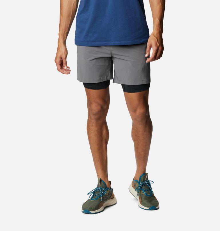 Zero Rules™ Short   023   M Men's Zero Rules Shorts, City Grey, Black Trad Camo, front