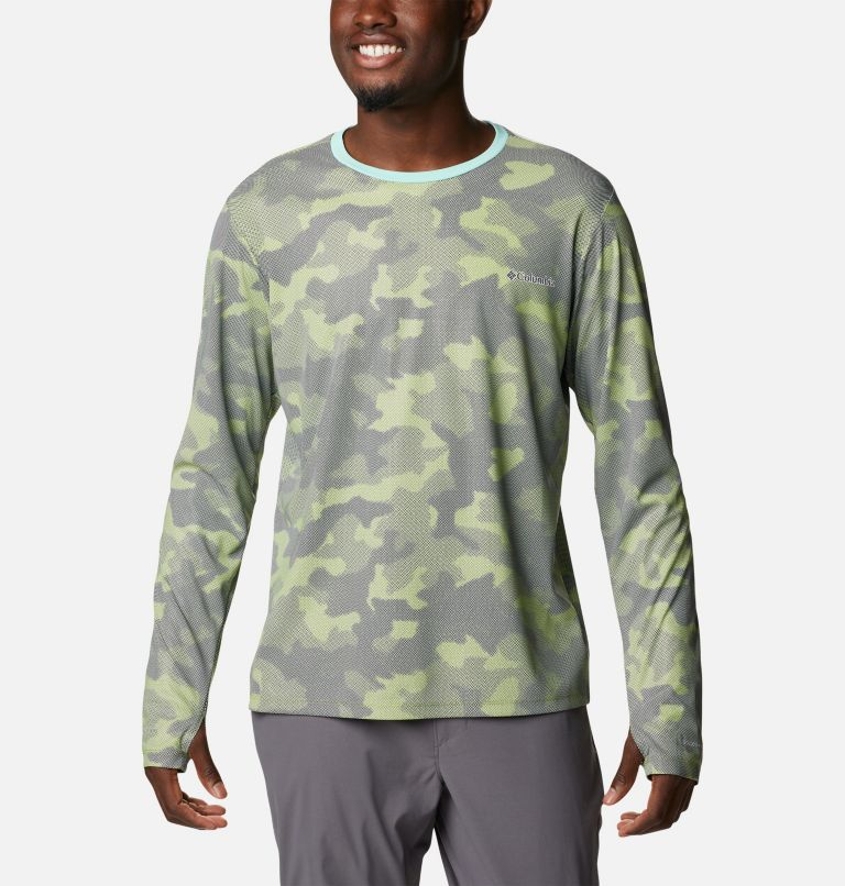 M Sun Deflector Summerdry™ LS Shirt   353   L Men's Sun Deflector Summerdry™ Long Sleeve Shirt, Matcha Spotted Camo, front