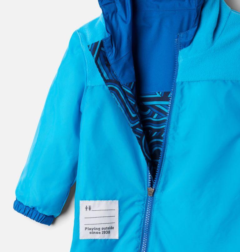 Critter Jitters™ II Rain Suit   433   0/3 Infant Critter Jitters II Rain Suit, Bright Indigo Geo Elements, Brt Indigo, a1
