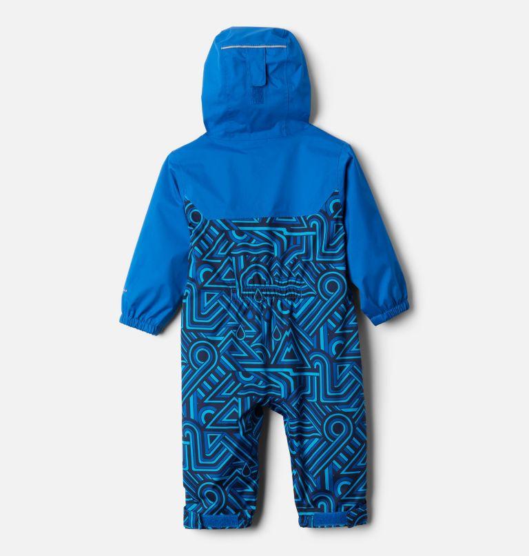 Critter Jitters™ II Rain Suit   433   3/6 Infant Critter Jitters II Rain Suit, Bright Indigo Geo Elements, Brt Indigo, back