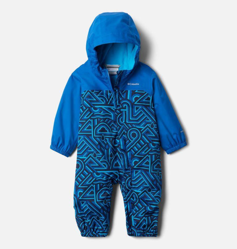 Critter Jitters™ II Rain Suit   433   3/6 Infant Critter Jitters II Rain Suit, Bright Indigo Geo Elements, Brt Indigo, front