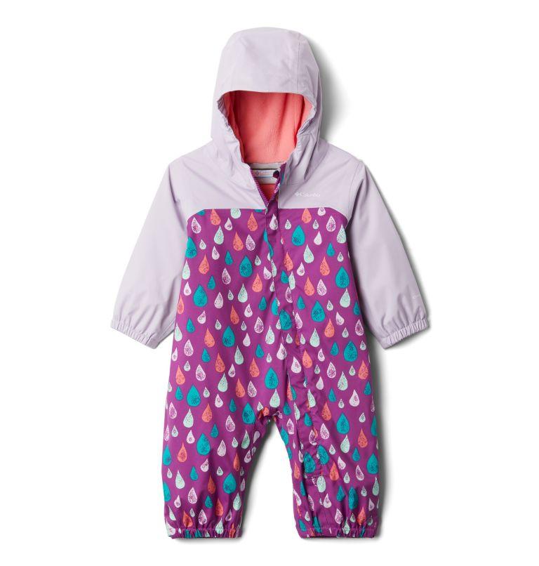 Critter Jitters™ II Rain Suit | 621 | 3/6 Infant Critter Jitters II Rain Suit, Berry Jam Raindrop, Pale Lilac, front