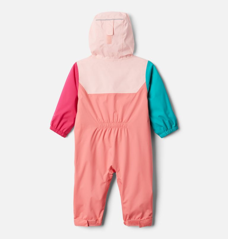 Critter Jitters™ II Rain Suit   699   12/18 Infant Critter Jitters II Rain Suit, Salmon, Tropic Water, Pink Sand, back