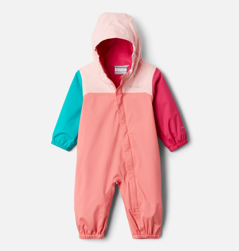 Critter Jitters™ II Rain Suit   699   3/6 Infant Critter Jitters II Rain Suit, Salmon, Tropic Water, Pink Sand, front