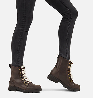 Women's Lennox™ Lace Cozy Boot LENNOX™ LACE COZY | 205 | 10, Blackened Brown, video