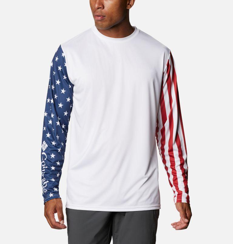 Men's PFG Terminal Tackle™ Americana Long Sleeve Shirt Men's PFG Terminal Tackle™ Americana Long Sleeve Shirt, front