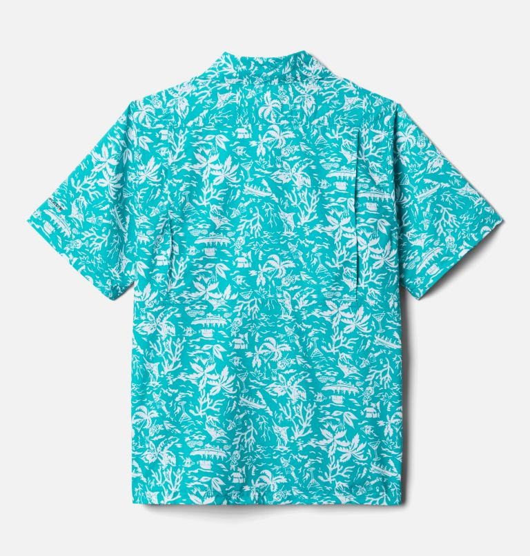Slack Tide™ Short Sleeve Camp Shirt   360   L Boys' PFG Slack Tide™ Short Sleeve Camp Shirt, Tropic Water Kona Youth, back