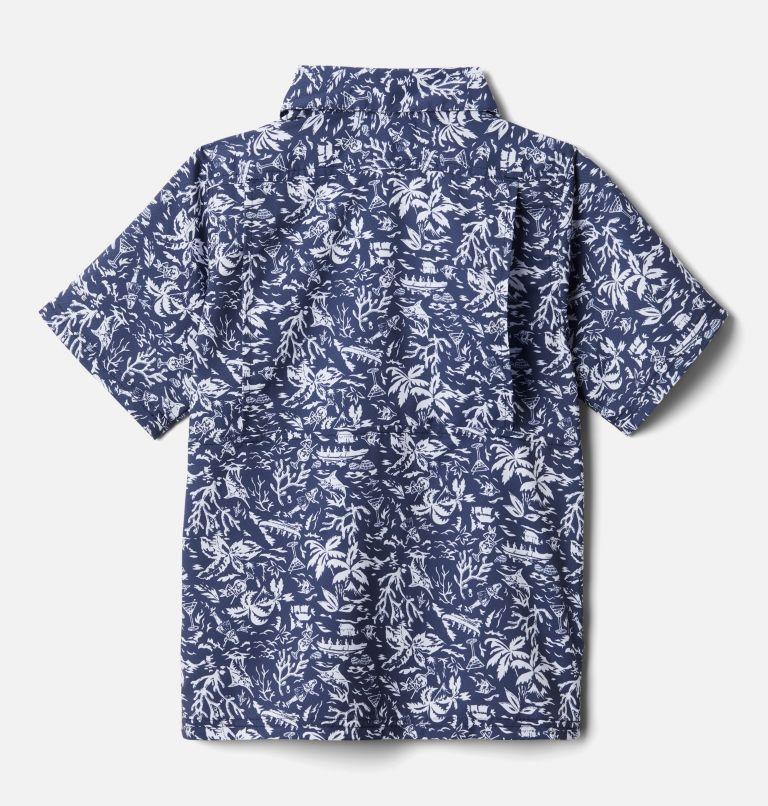 Slack Tide™ Short Sleeve Camp Shirt | 465 | XS Boys' PFG Slack Tide™ Short Sleeve Camp Shirt, Collegiate Navy Kona Youth, back