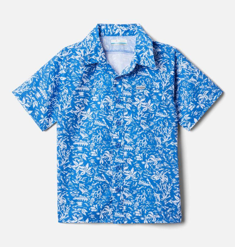 Boys' PFG Slack Tide™ Short Sleeve Camp Shirt Boys' PFG Slack Tide™ Short Sleeve Camp Shirt, front