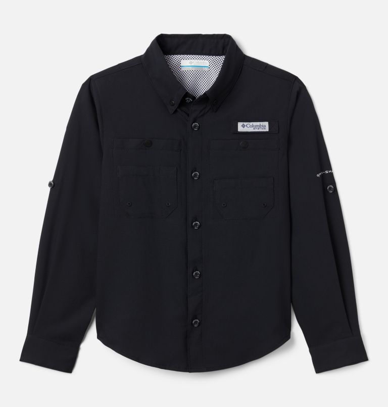 Tamiami™ Long Sleeve Shirt | 010 | L Boys' PFG Tamiami™ Long Sleeve Shirt, Black, front