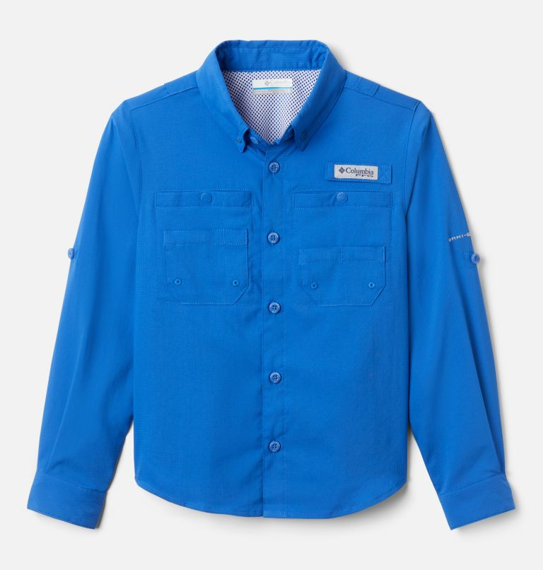 Tamiami™ Long Sleeve Shirt   487   L Boys' PFG Tamiami™ Long Sleeve Shirt, Vivid Blue, front