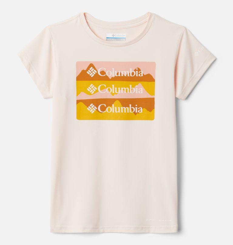 Sasse Ridge™Graphic SS Tee | 887 | M Girls' Sasse Ridge™ Graphic T-Shirt, Peach Quartz, Painted Hills Trio, front