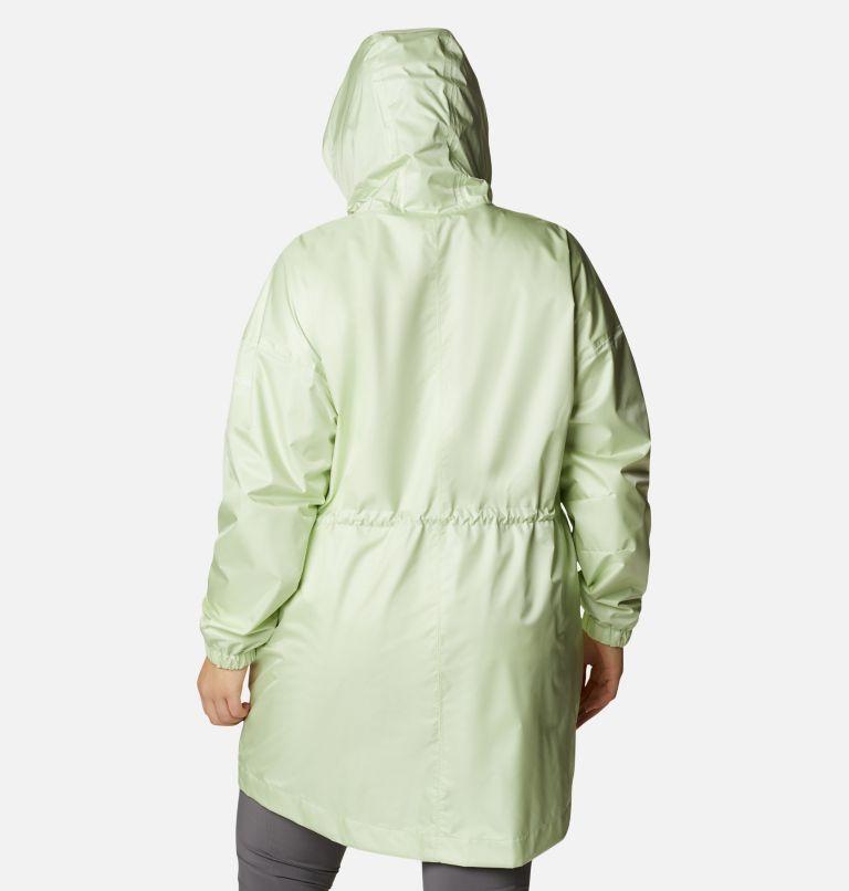 Splash Side™ Jacket | 313 | 3X Women's Splash Side™ Jacket - Plus Size, Light Lime, back