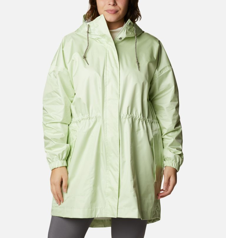 Splash Side™ Jacket | 313 | 3X Women's Splash Side™ Jacket - Plus Size, Light Lime, front