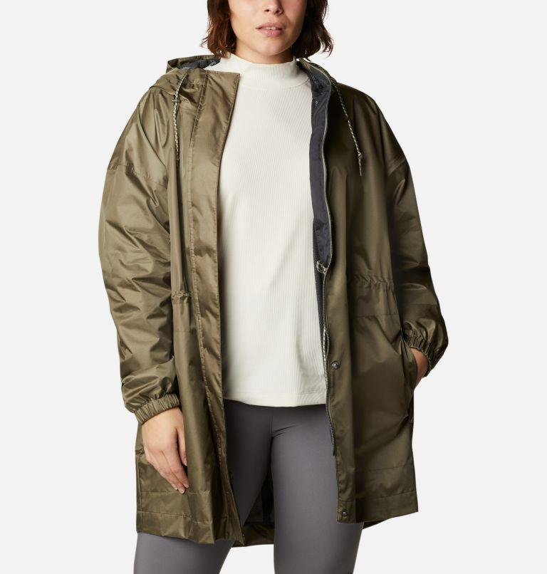 Splash Side™ Jacket | 397 | 1X Women's Splash Side™ Jacket - Plus Size, Stone Green, a4