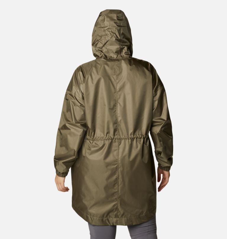 Splash Side™ Jacket | 397 | 1X Women's Splash Side™ Jacket - Plus Size, Stone Green, back