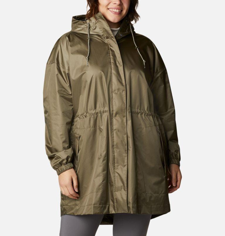 Splash Side™ Jacket | 397 | 1X Women's Splash Side™ Jacket - Plus Size, Stone Green, front
