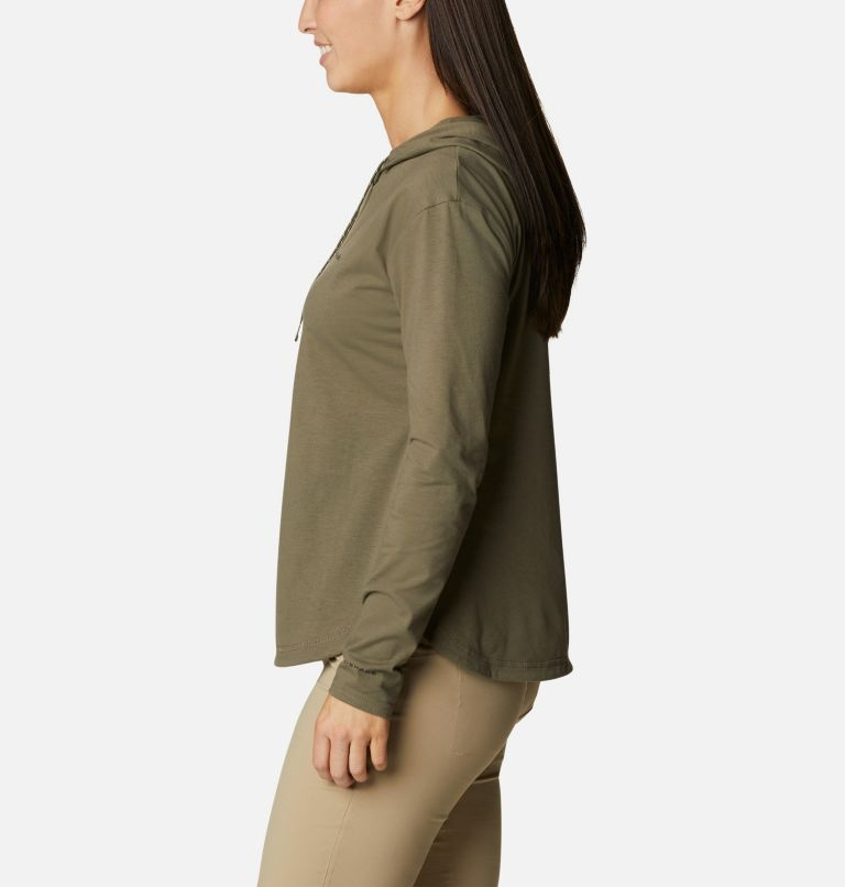 Sun Trek™ Hooded Pullover | 397 | S Women's Sun Trek™ Hooded Pullover, Stone Green, a1