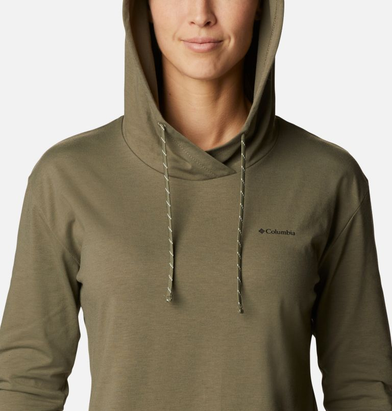 Sun Trek™ Hooded Pullover | 397 | S Women's Sun Trek™ Hooded Pullover, Stone Green, a2