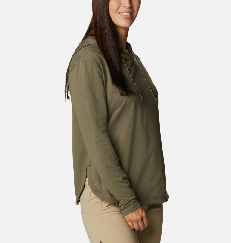 Sun Trek™ Hooded Pullover | 397 | S Women's Sun Trek™ Hooded Pullover, Stone Green, a3