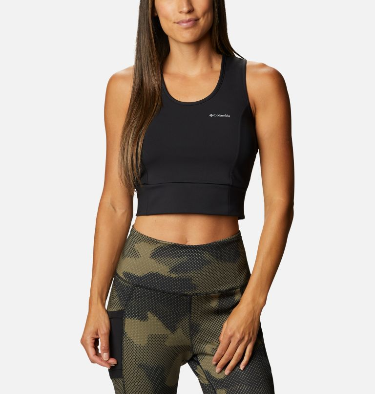 Windgates™ II Cropped Tank | 010 | L Women's Windgates™ II Cropped Top, Black, front