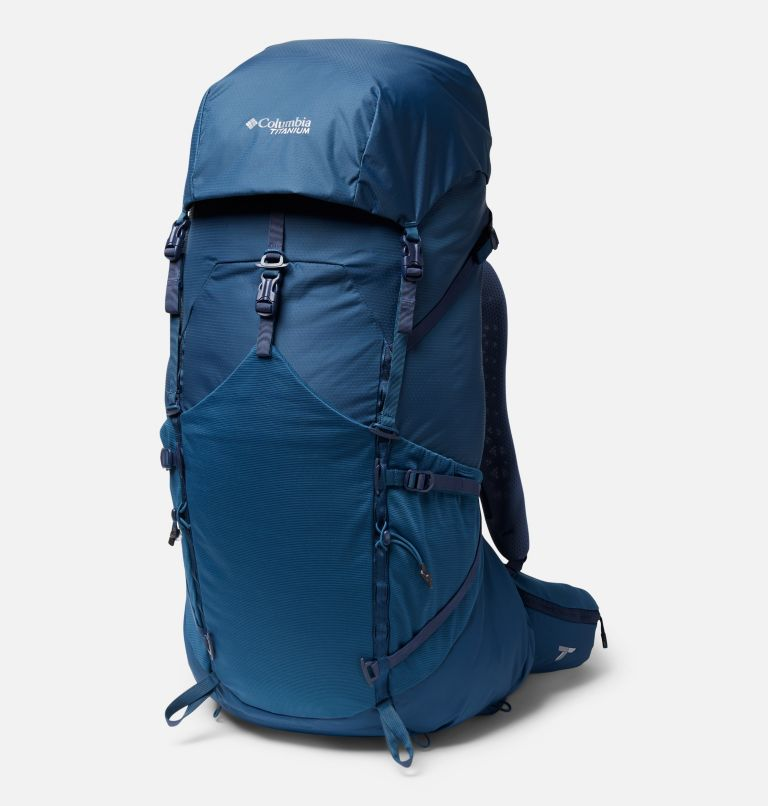 Titan Pass™ 48L Backpack | 403 | O/S Titan Pass™ 48L Backpack, Petrol Blue, front