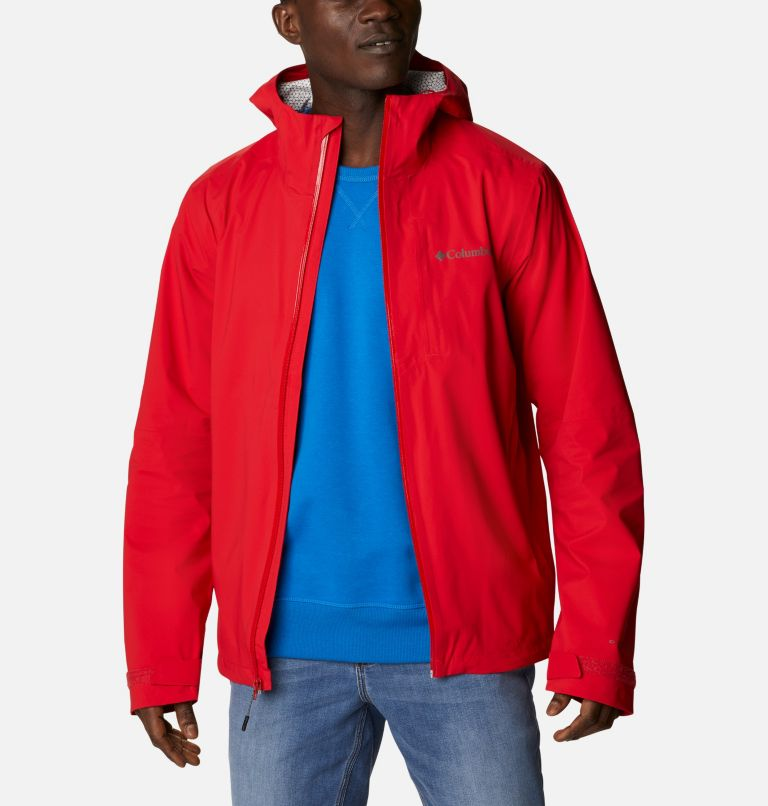 Omni-Tech™ Ampli-Dry™ Shell | 691 | M Men's Omni-Tech™ Ampli-Dry™ Shell Jacket, Bright Red, front