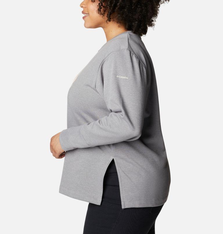 Chandail à col rond en tissu éponge Columbia™ Logo pour femme - Grandes tailles Chandail à col rond en tissu éponge Columbia™ Logo pour femme - Grandes tailles, a1