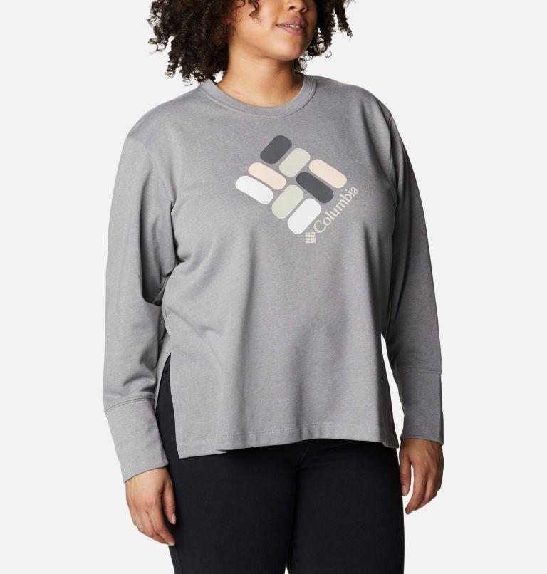 Chandail à col rond en tissu éponge Columbia™ Logo pour femme - Grandes tailles Chandail à col rond en tissu éponge Columbia™ Logo pour femme - Grandes tailles, a3