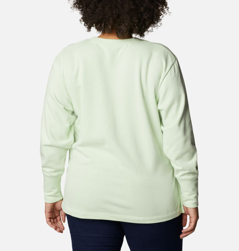 Women's Columbia™ Logo French Terry Crew - Plus Size Women's Columbia™ Logo French Terry Crew - Plus Size, back