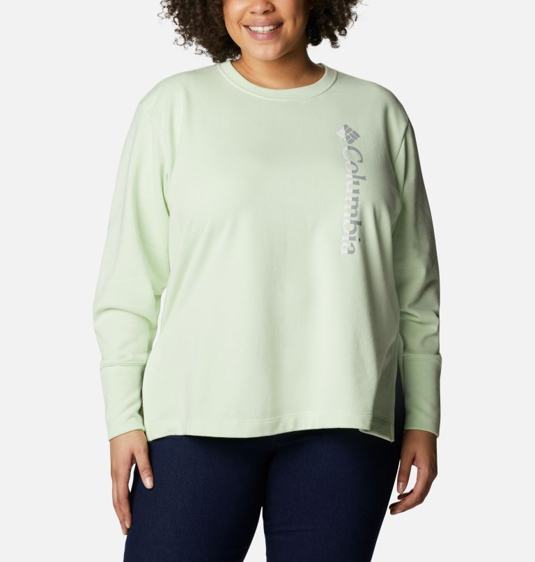 Women's Columbia™ Logo French Terry Crew - Plus Size Women's Columbia™ Logo French Terry Crew - Plus Size, front
