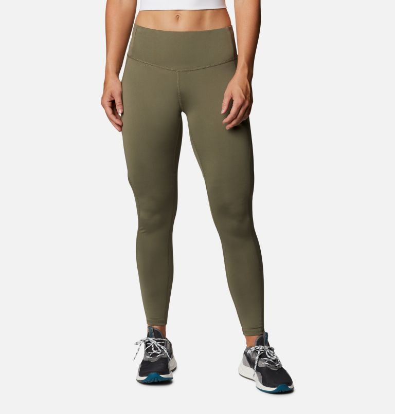 Columbia Lodge™ Tight | 397 | L Women's Columbia Lodge™ Tights, Stone Green, Spotted Camo Fill, front