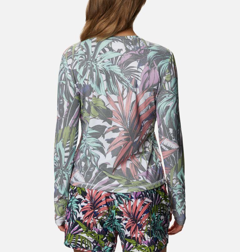 W Sun Deflector Summerdry™ LS Shirt   101   S Women's Sun Deflector Summerdry™ Long Sleeve Shirt, White Toucanical Multi Print, back